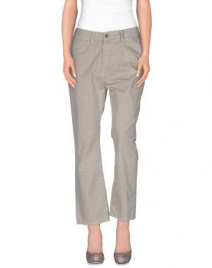 Повседневные брюки GOLD CASE. Цвет: светло-серый