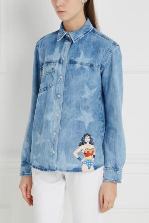 Джинсовая рубашка Drussila Paul & Joe Sister. Цвет: голубой