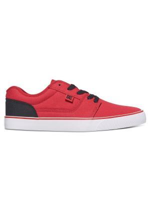 Кеды DC Shoes. Цвет: красный,белый