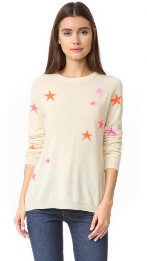 Кашемировый свитер с напуском Star Chinti and Parker. Цвет: кремовый/мульти