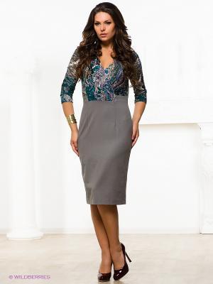 Платье Capriz. Цвет: серый, зеленый