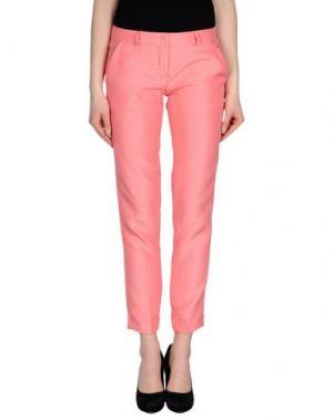 Повседневные брюки TO-MAY. Цвет: розовый