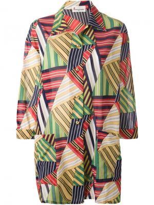 Пляжный пиджак с геометрическим принтом Roberta  Di Camerino Vintage. Цвет: зелёный