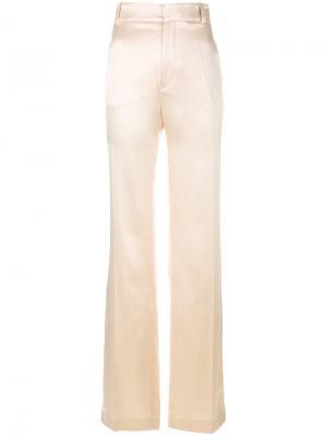 Расклешенные брюки с завышенной талией Joseph. Цвет: телесный