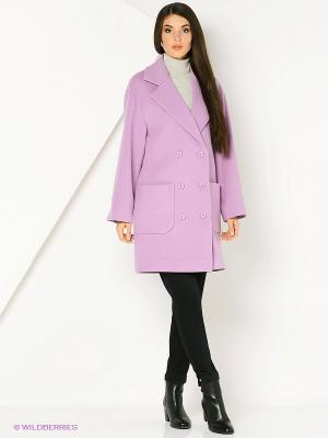 Пальто RUXARA. Цвет: сиреневый, бледно-розовый