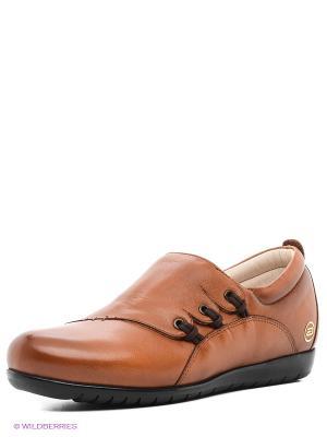 Ботинки Atiker. Цвет: коричневый