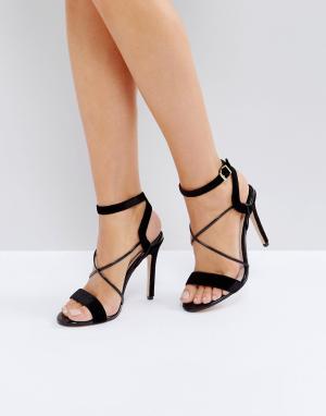 Faith Босоножки на каблуке с ремешками Dana. Цвет: черный