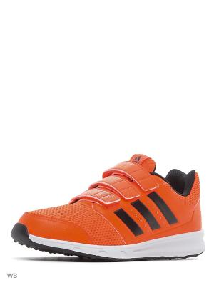 Кроссовки дет. спорт. lk sport 2 cf k  SOLRED/CBLACK/FTWWHT Adidas. Цвет: черный, белый, оранжевый