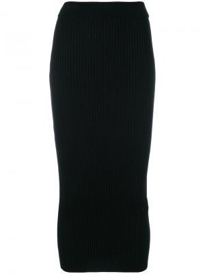 Приталенная юбка-миди Kenzo. Цвет: чёрный