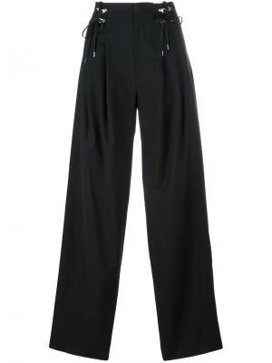 Широкие брюки Anthony Vaccarello. Цвет: чёрный