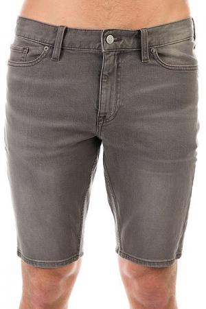 Шорты джинсовые DC Washed Slim Sho Light Grey Shoes. Цвет: серый
