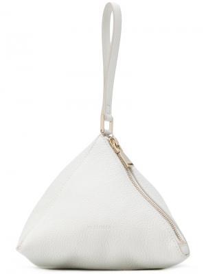 Клатч треугольной формы Jil Sander. Цвет: белый