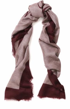 Кашемировый шарф с принтом и необработанным краем Burberry. Цвет: светло-розовый