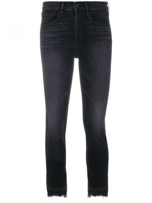 Укороченные джинсы с необработанными краями 3X1. Цвет: чёрный