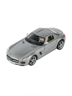 Машинка Инерционная Mercedes-Benz SLS AMG, Серебро (1:41-1:32) (PS-0616307-S) Pit Stop. Цвет: серебристый