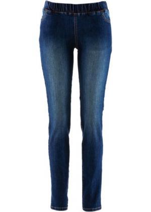 Джеггинсы, cредний рост (N) (темно-синий) bonprix. Цвет: темно-синий