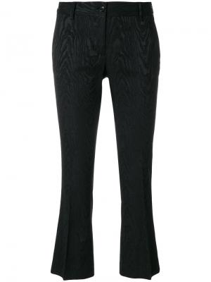 Укороченные брюки с вышивкой Alberto Biani. Цвет: чёрный