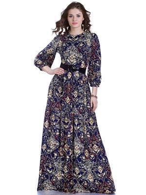 Платье OLIVEGREY. Цвет: темно-синий, золотистый