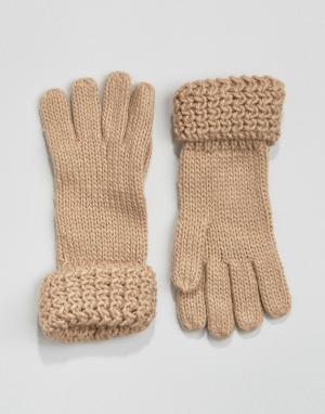 Boardwalk Вязаные перчатки Boardmans. Цвет: коричневый