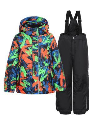 Комплект (куртка+брюки) Icepeak. Цвет: черный, оранжевый, светло-зеленый