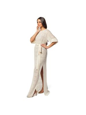 Платье UONA. Цвет: молочный