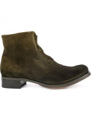 Вельветовые ботинки Cherevichkiotvichki. Цвет: зелёный