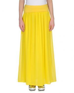 Длинная юбка FRANCESCA FERRANTE. Цвет: желтый