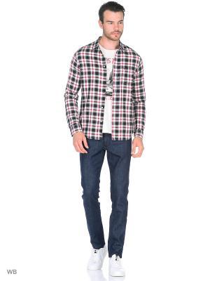 Рубашка 1PKT Wrangler. Цвет: розовый, черный