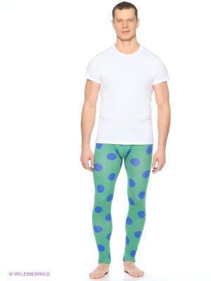Кальсоны Solid. Цвет: светло-зеленый, голубой