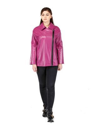 Кожаная куртка ALIANCE FUR. Цвет: лиловый