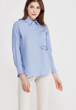 Рубашка Clabin. Цвет: голубой