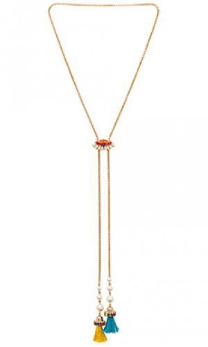 Цепочка с кисточками и кристаллами Anton Heunis. Цвет: металлический золотой