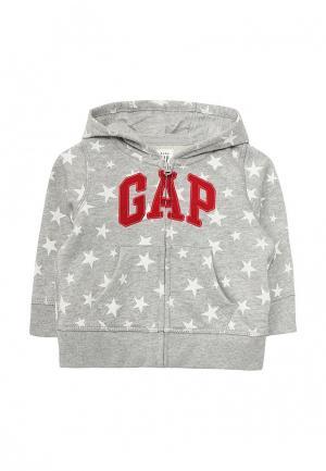 Толстовка Gap. Цвет: серый