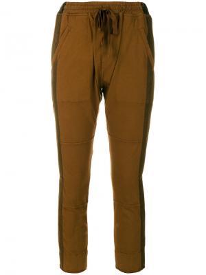 Укороченные брюки Haider Ackermann. Цвет: коричневый