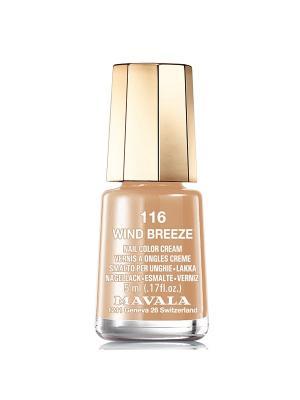 Лак для ногтей тон 116 Wind Breeze Mavala. Цвет: светло-коричневый