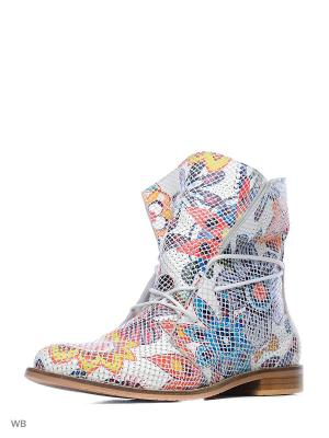 Ботинки Roccol. Цвет: белый, синий, красный