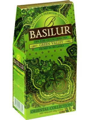 Чай Basilur ВОСТОЧНАЯ КОЛЛЕКЦИЯ Зеленая долина, 1 ПАЧКА. Цвет: зеленый