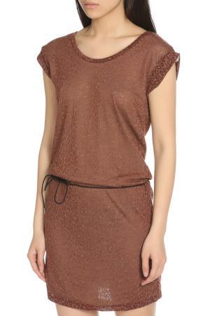 Повседневное платье с поясом Scotch&Soda. Цвет: brick, кирпичный