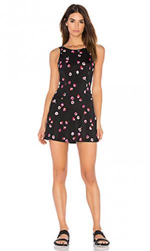 Цветочное платье с юбкой-шорты x kate spade falling Beyond Yoga. Цвет: черный