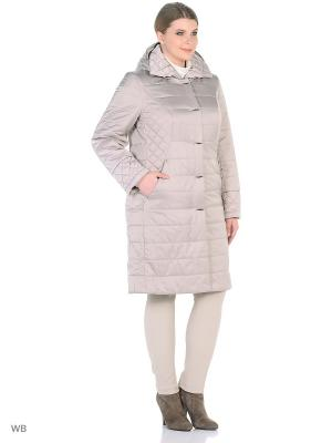 Утепленное пальто MONTSERRAT. Цвет: светло-серый
