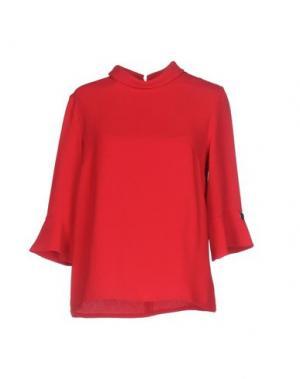 Блузка NAUGHTY DOG. Цвет: красный