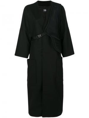Свободное пальто Y-3. Цвет: чёрный