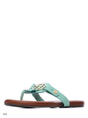 Пантолеты Roccobarocco. Цвет: светло-зеленый