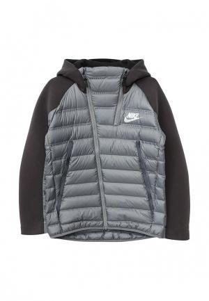 Куртка Nike. Цвет: серый