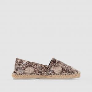 Туфли  под кожу рептилии La Redoute Collections. Цвет: под питона