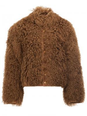 Ворсистая куртка-бомбер The Soloist. Цвет: коричневый