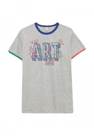 Футболка United Colors of Benetton. Цвет: серый