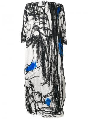 Платье с графическим принтом Daniela Gregis. Цвет: чёрный