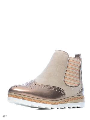 Ботинки Marco Tozzi. Цвет: бежевый, бледно-розовый, бронзовый