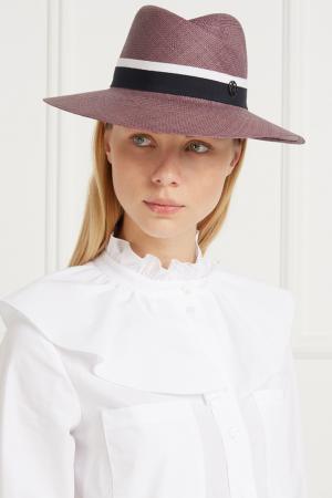 Соломенная шляпа Virginie Maison Michel. Цвет: сиреневый